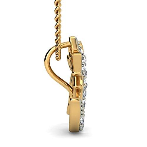 Or jaune 18K 0,19CT TW Round-cut-diamond (IJ | SI) Pendentif