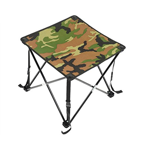 GZH Folding Table Outdoor Hardcore Portable Barbecue Stall Camping Folding Table (Color : A) by GZH