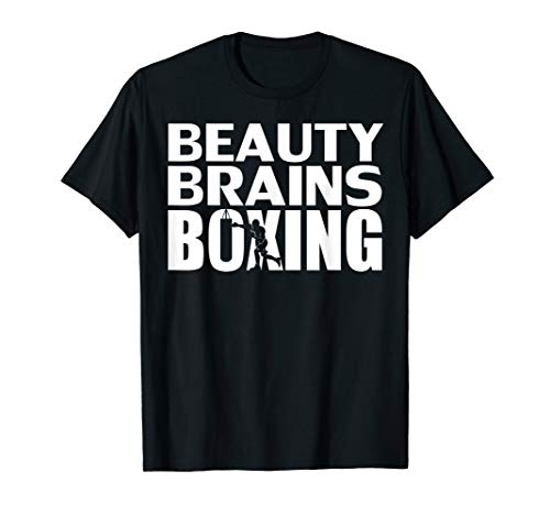 - Beauty Brains Boxing T-Shirt Funny Boxer Cool Lover Gift