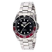 Ahorra en Invicta INVICTA-9403 Reloj Automatico Unisex correa de acero inoxidable Negro/Plateado/Rojo y más