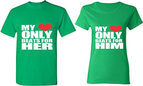 My Heart Only Beats for Him & Her - Matching Couple Shirts - His and Her T-Shirts - Tees