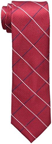 Tommy Hilfiger Men's Natte Window Tie, Red, One Size