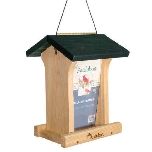 Woodlink NABIN Audubon Deluxe Honey Stained Feeder, 4.75 Quarts by Woodlink