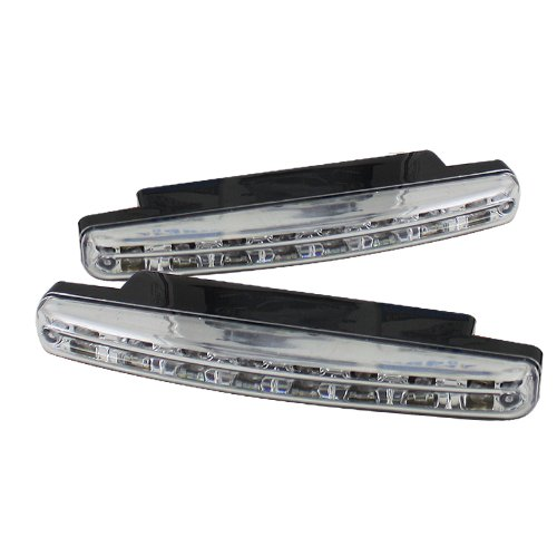 Carpart4u Honda Accord Euro Style Black Housing with clear lensTail Lights & LED Day Time Running Light Package