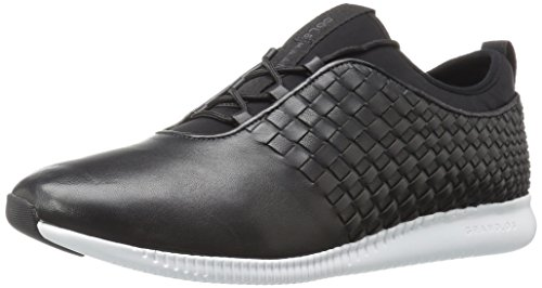 Cole Haan Donna Studiogrand Wv Tr Fashion Sneaker In Pelle Nera / Bianca