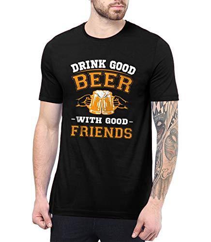 Men Black Beer T Shirt - Drinking Shirts for Adult   Good Beer, S