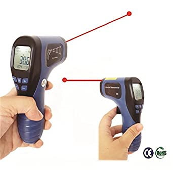 STARRICH Outdoor Infrared Thermometer Digital Thermometer Termometro Infravermelho for Pyrometer Temperature Instruments with 9V Battery (