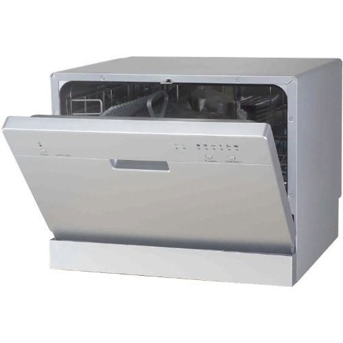 Sunpentown Countertop Dishwasher in Silver