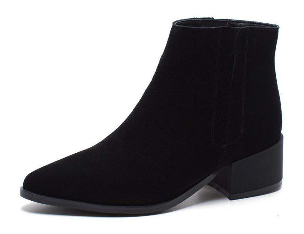 Oudan Leder - Damen - Stiefel,Schwarz,35 (Farbe   Wie Gezeigt, Größe   Einheitsgröße)