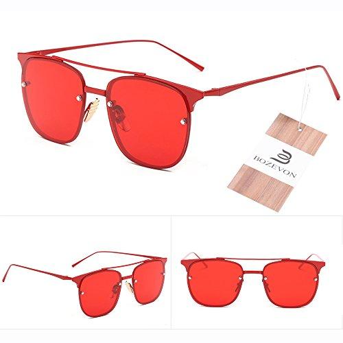 Soleil UV400 Mode Wayfarers Rouge Unisexe Lunettes pour amp; Protection Unettes Lunettes de Inspiré Vintage Vue Femme Rétro BOZEVON Papillon de Homme zqP0dzw4