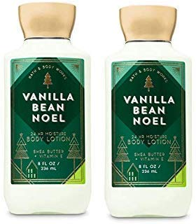 Bath and Body Works 2 Pack Vanilla Bean Noel Super Smooth Body Lotion 8 Oz