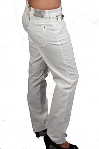 Femme Zerres Blanc Uni Jeans Weiß aZqZE1U