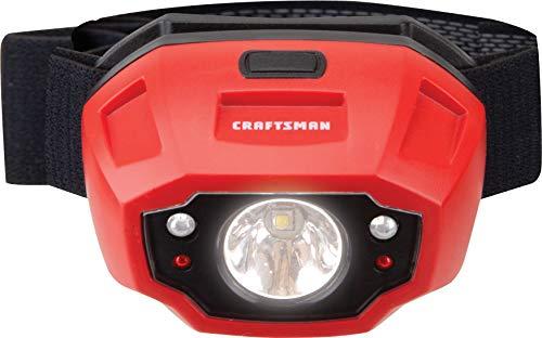 Craftsman CMXLHB1 Hands Free 250 Lumen LED Headlamp Flashlight with Adjustable Headband, Alkaline Battery Powered (Alkaline Battery Powered Flashlight)