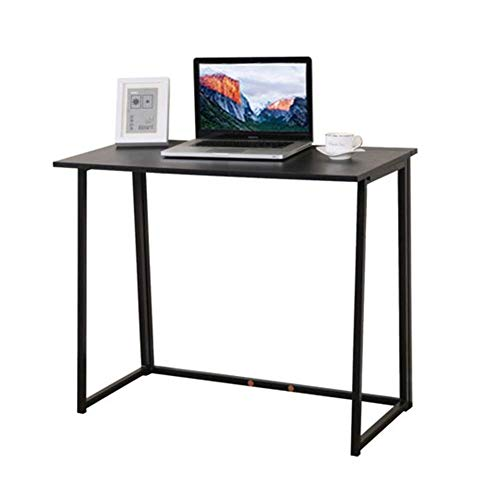 Goujxcy Computer Desk,Modern Foldable Corner Writing Table Study Laptop PC Desk Book Stand Tray Home Office Furniture Study Workstation for Small Spaces and Students Laptop Black ()