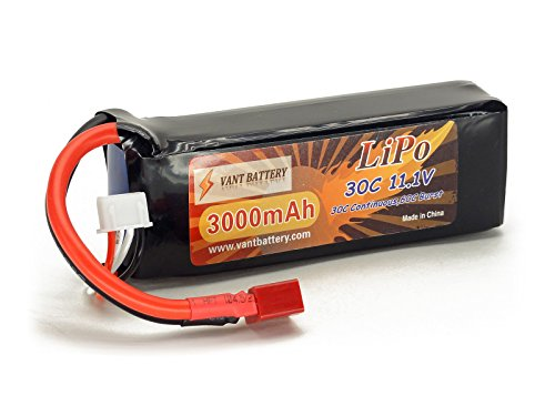 11.1V 3000mAh 3S Cell 30C-60C LiPo Battery Pack - Blade 350 Qx3 Battery Charger