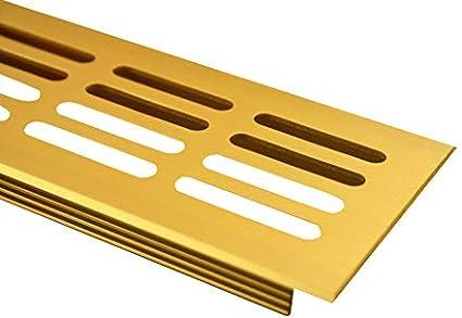 Acero Inoxidable Anodizado//–/e6/C13 MS herrajes/ /Rejilla de ventilaci/ón de aluminio 60/mm x 400/mm en diferentes colores