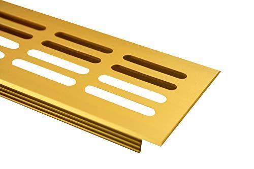 Aluminium L/üftungsgitter Stegblech L/üftung 60mm x 600mm in verschiedenen Farben Edelstahl eloxiert