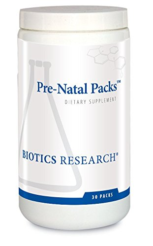 Biotics Research Pre-Natal Packs – Pre-Natal Nutrition Support. Post-Natal Formula. Includes Omega-3s. Iodine and Folate. Nutritional Needs for Pregnant, Lactating and Women Wishing to Conceive. 30Pk (Prenatal Vitamins Iodine)