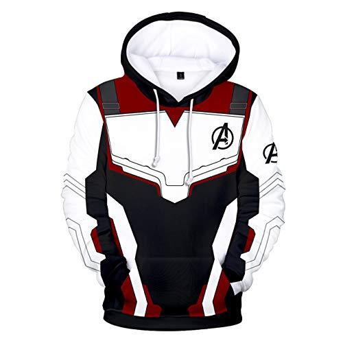 Avengers Endgame Advanced Tech Quantum Hoodie Adult Sweatshirt Cosplay Costume with Pocket Jacket Pullover Chun-B L