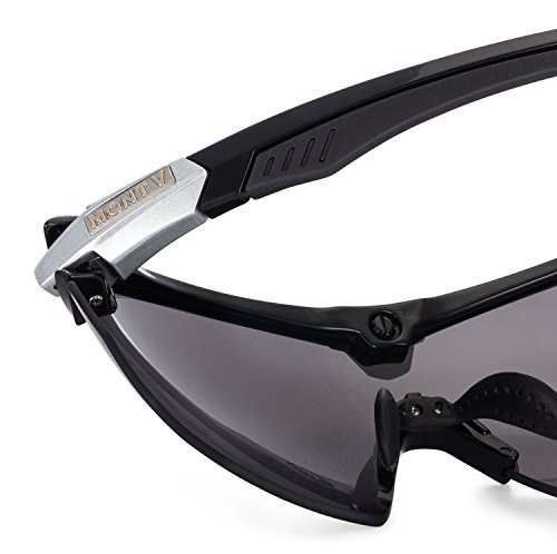 Mont Ventoux Sport Sunglasses for Women Men - Cycling Running Shooting Golf Fishing Baseball Driving Hiking 100% UV Protection Adjustable Nose Pads TR90 NZZ Unbreakable Frame by Mont Ventoux (Image #2)