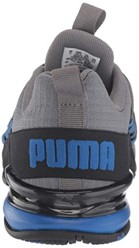 PUMA Men's AXELION Sneaker, Castlerock-Galaxy Blue Black, 4.5 M US Big Kid