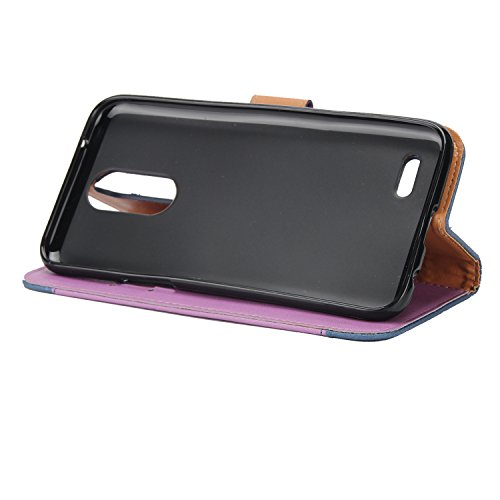 Ecoway Para LG K4 2017 Funda, Amantes de Rosa(Rojo) PU Leather Cubierta , Función de Soporte Billetera con Tapa para Tarjetas Soporte para Teléfono Púrpura