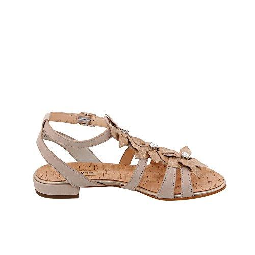 Paul Green 7018-002 Damen Sandale Aus Feinem Nubukleder verstellbares Riemchen Rosewood