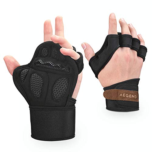 Aegend Workout Gloves Sports Training Exercise Gloves for Weightlifting, Cross Training, Gym Workout, Pull Ups, Kettlebells, Deadlifts, Bench Presses, WODs, Suits Men & Women, X-Large