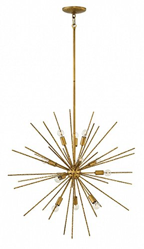 Hinkley FR43015BNG Tryst - Twelve Light Stem Hung Pendant, Burnished Gold Finish (Burnished Gold Finish Pendants)
