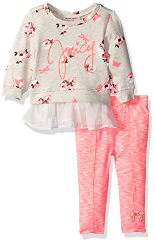 Juicy Couture Baby Girls' 2 Pieces Pants Set-Printed Top, Pink, (Kids Couture Clothing)