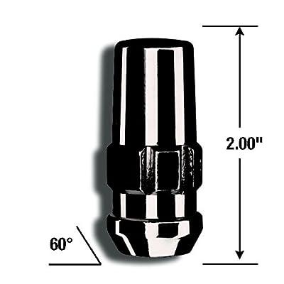 Gorilla Automotive 76641NBC Black 14mm x 1.50 Thread Size Chrome Finish Duplex Acorn Wheel Lock, (Pack of 4): Automotive