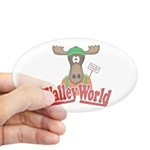 CafePress - National Lampoon Walley World Moose Sign Sticker - Oval Bumper Sticker Car Decal