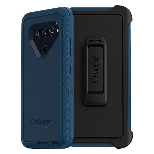 OtterBox Defender Series Case for LG V40 ThinQ - Retail Packaging - Bespoke Way (Blazer Blue/Stormy SEAS Blue)