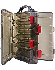 JVSISM Agujero De Aire para Almacenamiento De Cebo Senuelos Camaron Minnow Caja De Aparejos De Pesca Portatil Multifuncion 20X17X5Cm Caja De Senuelos De Pesca