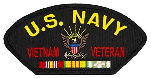US Navy Vietnam Veteran - Iron-on Embroidered Patch 5 1/4