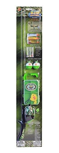 Kid Casters CAMO Fishing Pole & Deluxe Tackle Kit (Green Camo) (Camo Fishing Pole)