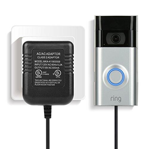 Power Adapter, Video Doorbell Power Supply for the Ring Video Doorbell, Ring Video Doorbell 2 & Ring Video Doorbell Pro, Power Supply, Adapter, Battery Charger ()