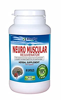 Blue Sky Herbal Neuro Muscular Support : Herbal Supplement - Neuro muscular rejuvenator - brain and nervous system tonic. Main ingredients are : Andrographis ,paniculata ,Withania somnifera ,Asparagus Racemosus ,Tribulus terristris ,Phenoix sylvestris ,Pr