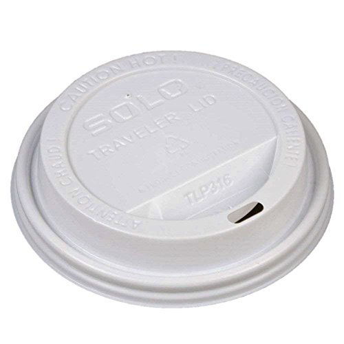 Solo Cup White Traveler Drink-Thru Lid. Fits Solo 10 Ounce Squat and 12, 16, 20 and 24 Ounce Solo Brand Hot Beverage Cups. 400 Pack