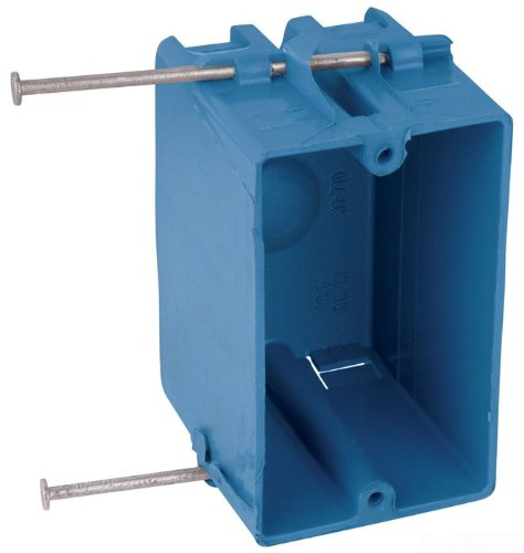 Carlon N1-710-M Outlet Box, New Work, 1 Gang, 3-3/4-Inch Length by 2-1/4-Inch Width by 2-11/16-Inch Depth, Blue