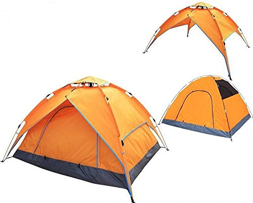 RIGMA 2-3 Person Automatic Tent for Camping - 4 Season Instant Hydraulic Pop up Canopy - Lightweight Family Camping Tent