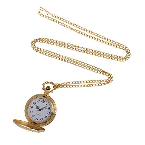 Clearance Sale!DEESEE(TM)Men and Women Couple Pocket Watch Retro Quartz Hanging Table Commemorative Table (A) -