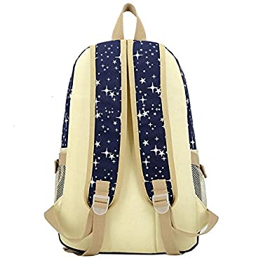 Amazon.com: Kids school bag set student star backpack canvas bags for teenagers women print mochillas: Clothing