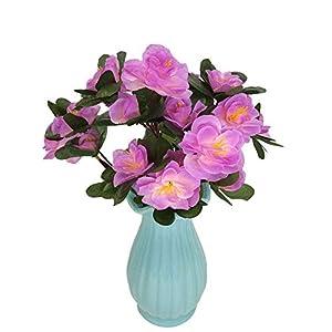 MARJON FlowersSmall Azalea Fake Flower Full Bloom Artificial Flowers for DIY Bouquets Wedding Party Home Decor Offices 73