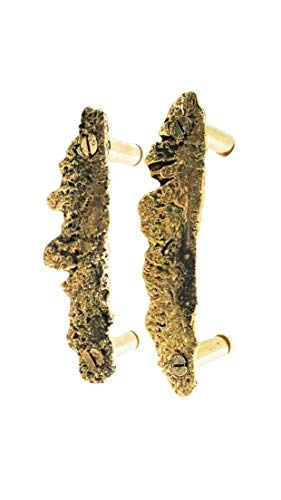 (Solid Brass Kitchen Cabinet Wardrobe Door Pull Set Organic Shaped Door Handles (Prototype Set) SALE)