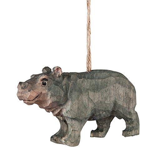 CFF Hippopotamus Hippo Christmas Holiday Ornament Wood (Hippo Ornament)
