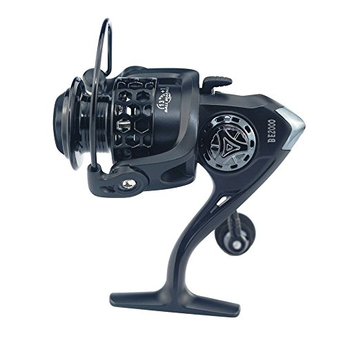 U-BCOO Otating Reel - All-Metal Body Light Weight, Ultra-Smooth 13 +1 Ball Bearings 5.2: 1, Free Spare Parts Graphite Spools, Strong Carbon Fiber Drag (13+1BB 2000)