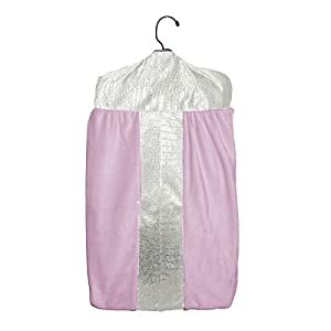 Baby Doll Bedding Croco Minky Diaper Stacker, Ivory/Pink