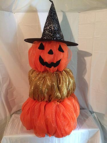 Halloween Pumpkin Topiary Urn Filler
