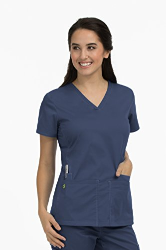 Med Couture Women's 'MC2' Everyday Scrub Top, Navy, Large from Med Couture